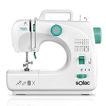 Solac SW8230 Cotton 16.0 Máquina de Coser Mecánica con 16 Puntadas, Blanco: Solac: Amazon.es: Hogar