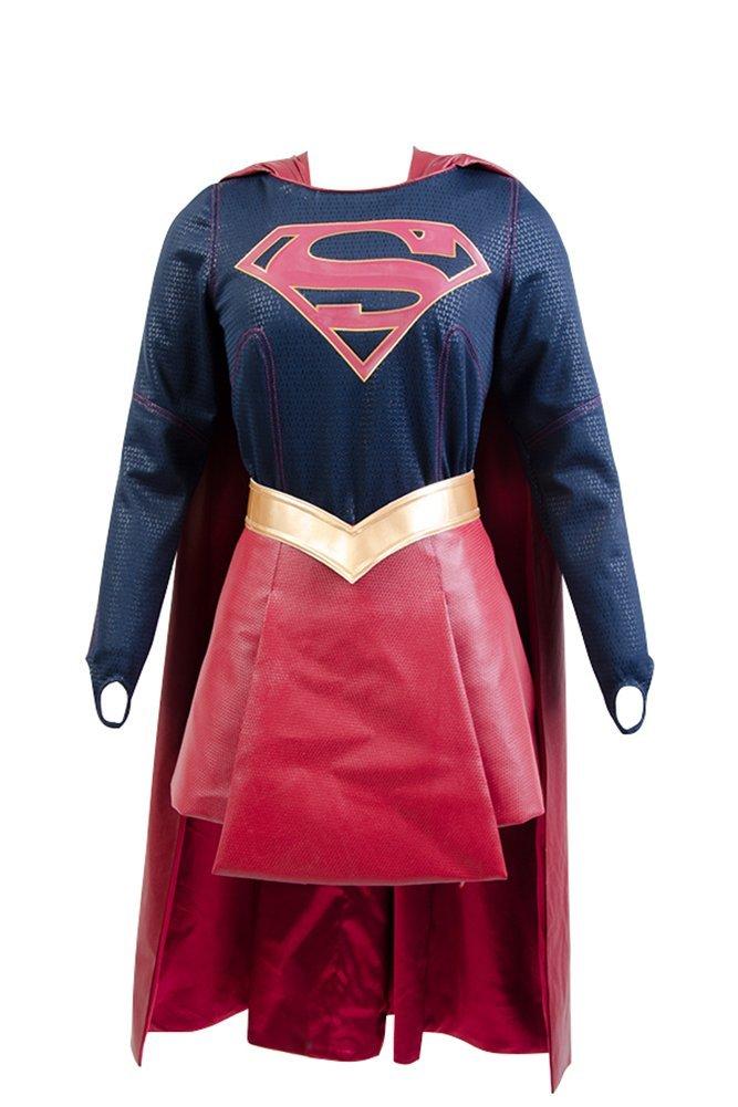 Supergirl Kostüm Damen Kara Zor-El Danvers Kostüm + Cape Umhang Cosplay XXL