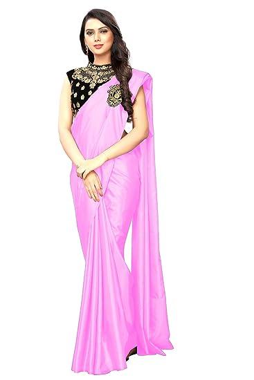 8300520478 Regent-e fashion Plain Silk Saree with Designer Blouse: Amazon.in ...