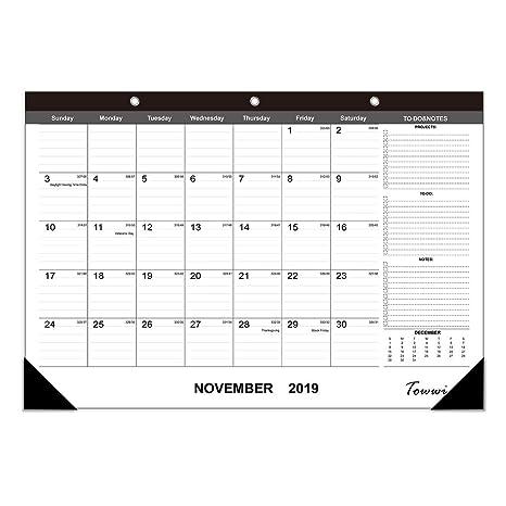 Amazon.com: TOWWI 2018-2020 Agenda mensual de escritorio de ...