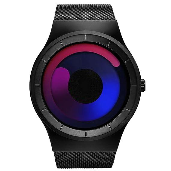 cb33cde79c14 SINOBI Reloj De Cuarzo Deportivo para Hombre con Diseño De Acero Inoxidable  y Personalidad De con Pulsera De Malla 04  Amazon.es  Relojes