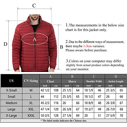 Jacket Puffer 2017 Down CHICK Nylon CHERRY Black Packable Men's wYgYqS
