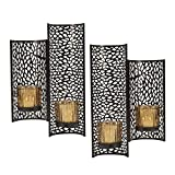 Mikasa Laser Cut Wall Sconces (Set of 2), Brown
