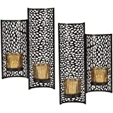 mikasa laser cut wall sconces set of 2 brown