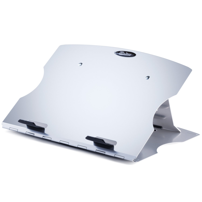 Halter lz-207regolabile di supporto con 6angoli regolabili girevole design e gestione dei cavi per laptop/notebook/iPad/tablet e più