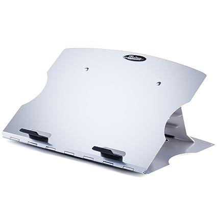 Halter LZ-207 - Soporte ajustable para ordenador portátil con 6 ángulos ajustables, diseño giratorio y gestión de cables para ordenador portátil, ...