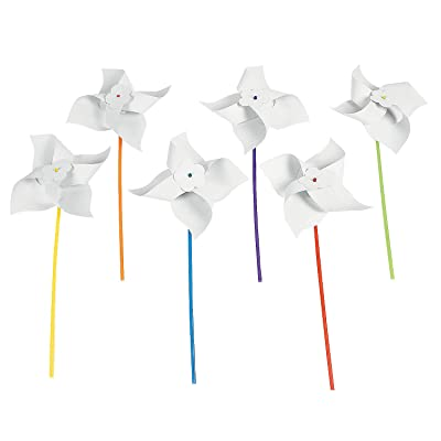 Do It Yourself Jumbo Paper Pinwheels - Crafts for Kids and Fun Home Activities: Toys & Games