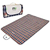 MIU COLOR Large Waterproof Outdoor Picnic Blanket, Sandproof and Waterproof Picnic Blanket Tote for Camping Hiking Grass Travelling Dual/Triple Layers