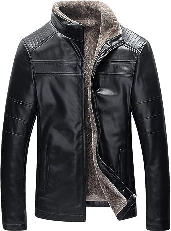 Spirio Men Winter Hooded Zipper Faux Fur Stand Collar Long Down Jacket