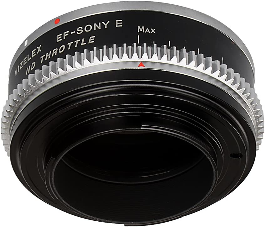 Vizelex Cine ND Throttle Lens Mount Double Adapter EF, EF-S Mount Lenses to Sony E-Mount Mirrorless Camera Body with Built-in Variable ND Filter 1 to 8 Stops Leica R SLR /& Canon EOS
