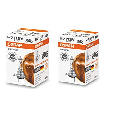 Osram H7 Halogen Headlight Bulbs 64210L 12V 55W Made In Germany 2 Piece Set: Automotive