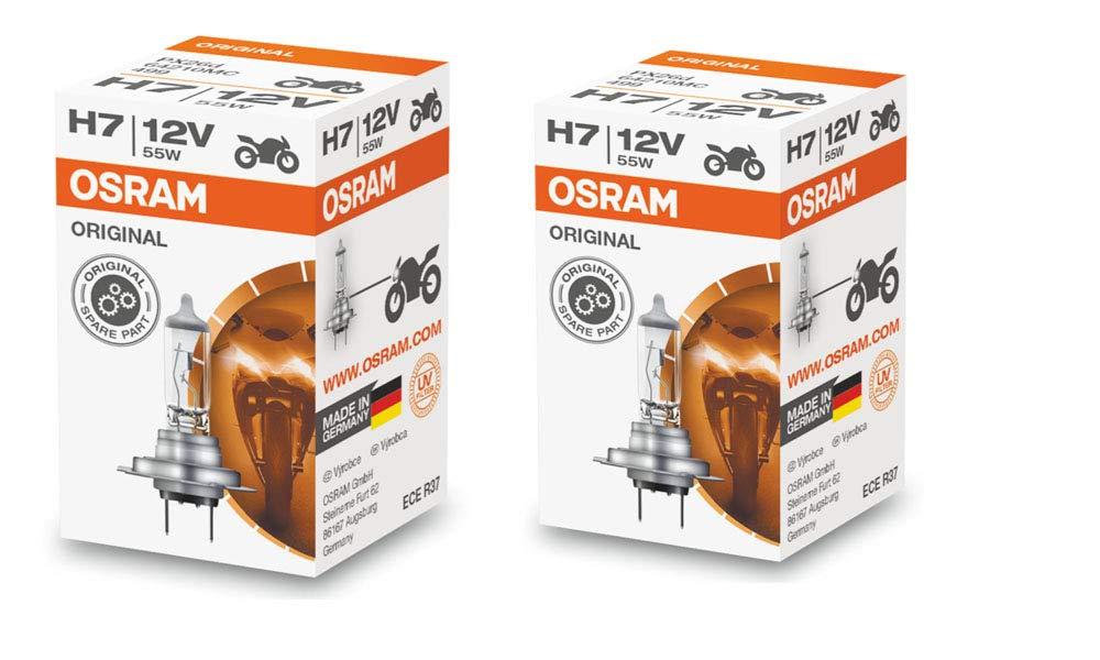 Osram H7 Halogen Headlight Bulbs 64210L 12V 55W Made In Germany 2 Piece Set Osram Sylvania 64210L H7