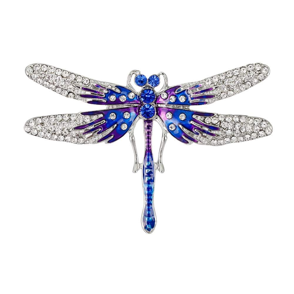 Fablcrew Blau Tropfen Öl Schmetterling Brosche Brosche Zarte Kristall Damen Brosche Kleidung Zubehör XIANG20180806092