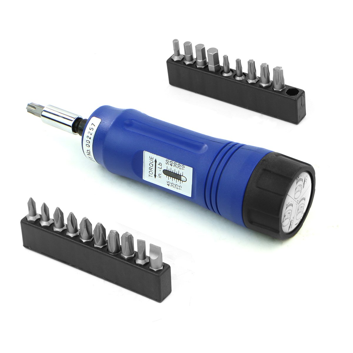 調節可能なガントルクスクリュードライバー ドライブソケットの長さ1/4インチ シャンク10-50インチ/ポンド 14点のビットセットとケース付き B01D0P5N4O