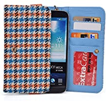 "Kroo Orange Houndstooth JUNING 6.0"" Unlocked Android Phone Phablet Cases 