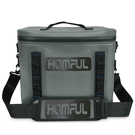 HOMFUL Portable Cooler for Outdoor, 30 Cans Portable Cooler, Insulated Soft Sided Cooler for Outdoor Travel, Camping, Beach, Picnic, BBQ Party, Tailgating
