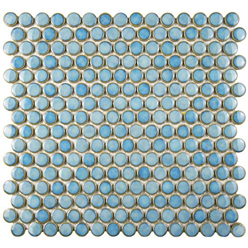 SomerTile FKOMPR33 Penny Porcelain Mosaic Floor and Wall, 12