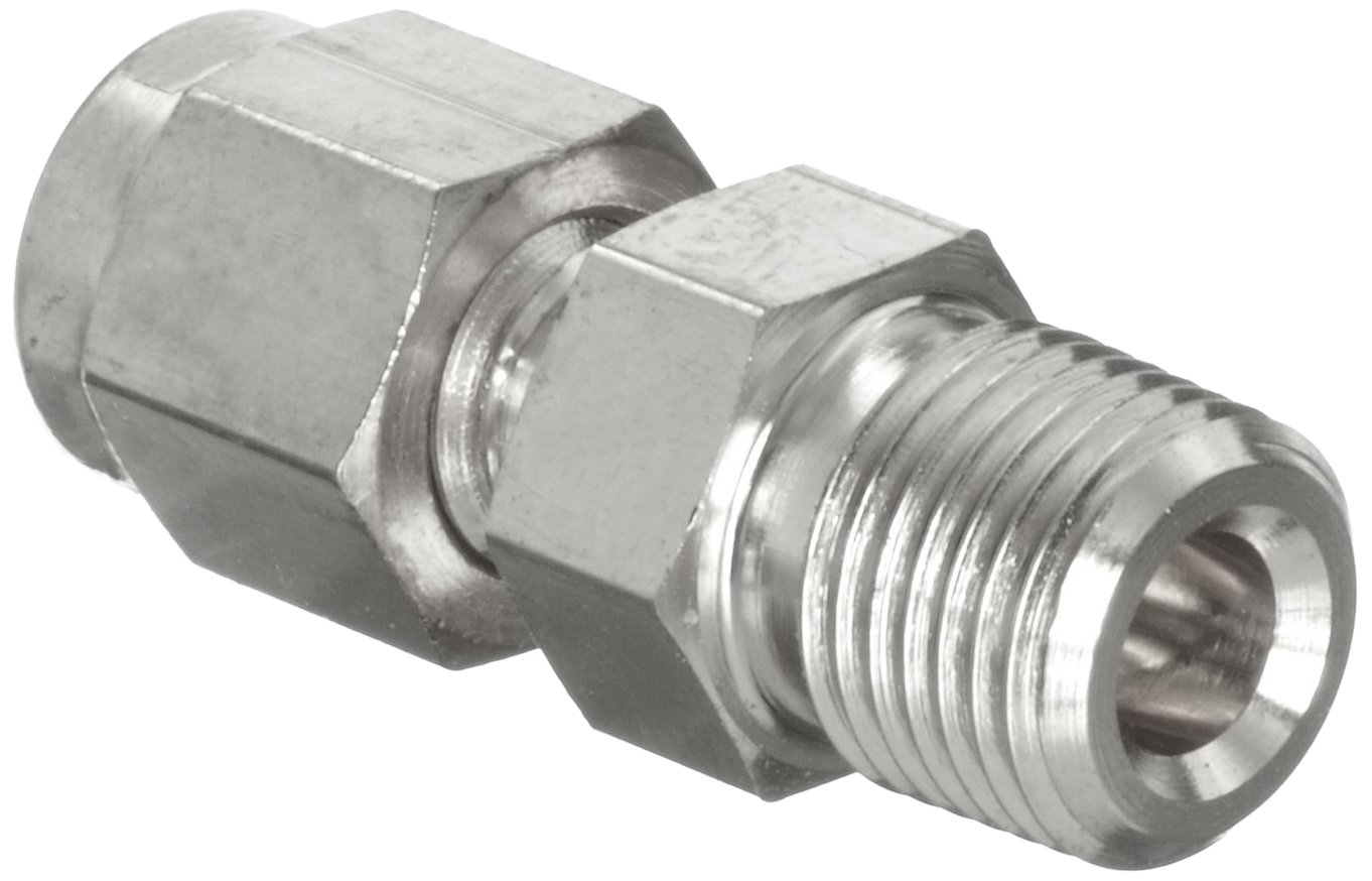 Parker A-Lok 6MSC6N-316 316 Stainless Steel Tube Fitting Adapter 3//8 Tube OD x 3//8 NPT Male 3//8 Tube OD x 3//8 NPT Male Parker Hannifin