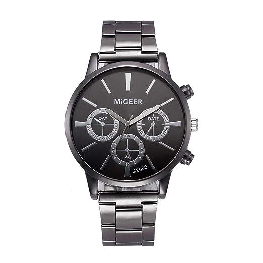 Correa de Acero Reloj para Mujer,BBestseller Moda Pulsera del Relojes Retro Estilo Romano Accesorios Watch Reloj de Pulsera (Negro): Amazon.es: Relojes