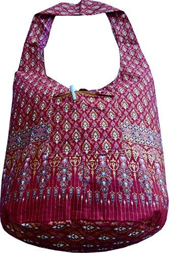 Ariyas Thaishop , Sac bandoulière pour femme Rouge Multicolore