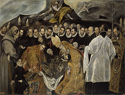Greco Painting - Oil Painting 'El Greco (Copy) El Entierro Del Senor De Orgaz (parte Baja) Ca. 1625 ' Printing On Perfect Effect Canvas , 16 X 21 Inch / 41 X 54 Cm ,the Best Hallway Artwork And Home Decoration And Gifts Is This Beautiful Art Decorative Prints On Canvas