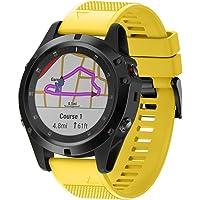 Becoler_Banda de reloj Banda Deportiva para Garmin Fenix 5X Plus-Becoler Correa de Reloj de Silicona Suave de Repuesto de Liberación Rápida para Garmin Fenix 5X Plus Reloj Inteligente