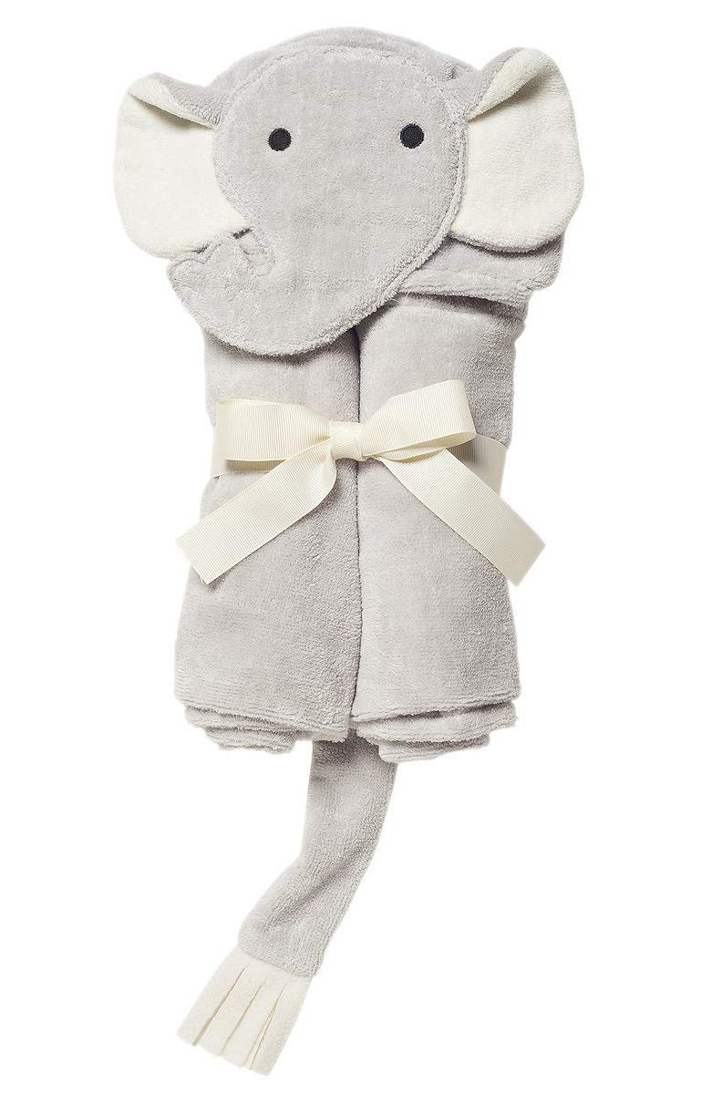 Elegant Baby Top Selling  Bath Gift - Cotton Hooded Towel Wrap, Soft Grey Elephant by Elegant Baby