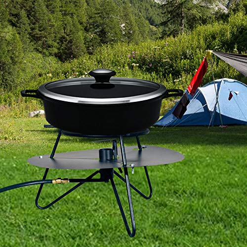 Portable Propane Cooktop High-Pressure Jet Cooker with Baffle Is Designed for Cooking Large Quantities of Food Quickly in Large Boiling Pots Simply Rotate the Baffle Over the Flame to Spread the Heat by MWShop