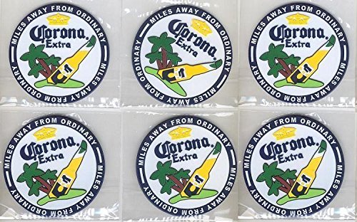 Corona Extra Rubber Bar Coasters Spill Mats set of 6 ()