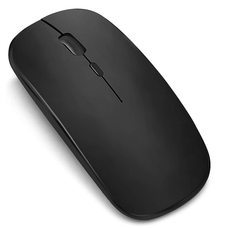 【年末年始最新版】ワイヤレスマウス 無線マウス コンパクト 超薄型 静音 人間工学 2.4GHz 3DPIモード 高精度 省エネモード 小型 持ち運び便利 光学式 高感度Mac/Windows/Surface/Microsoft Proに対応 オフィス/旅行/出張/に最適 (ブラック)