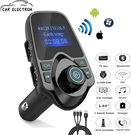 Bluetooth Car FM Transmitter Radio Adapter USB Charger AUX MP3 Player Car Kits