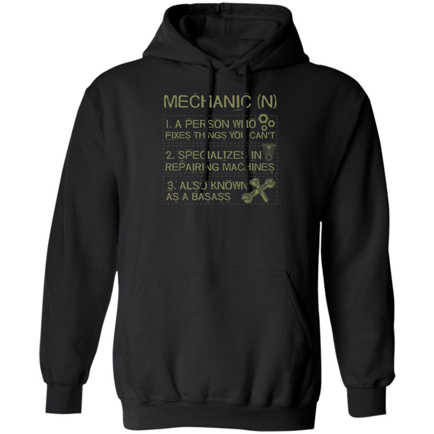 Pures Designs Mechanic Mean-Personalized for Mechanics-Mechanical s-Mens Hoodie