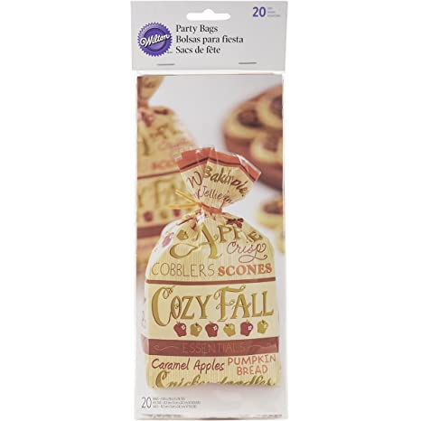 Wilton 1912-0453 Cozy Fall Standard Party Bag, Assorted