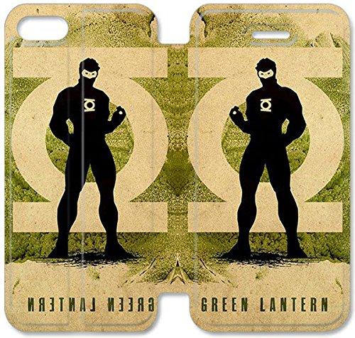 Flip étui en cuir PU Stand pour Coque iPhone 5 5S, bricolage étui de téléphone cellulaire 5 5S Green Lantern Leather Coque Case 8 Q3Z5JH Coque iPhone For Girls personnalisée