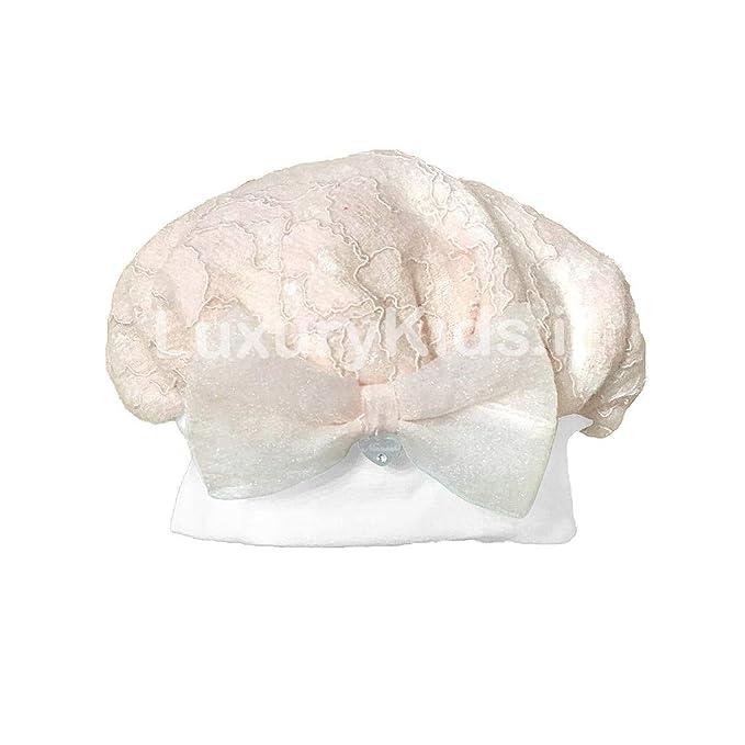 NINNAOH Basco in Pizzo e Cotone Rosa Neonata I1815  Amazon.it  Abbigliamento 861877cf11ec