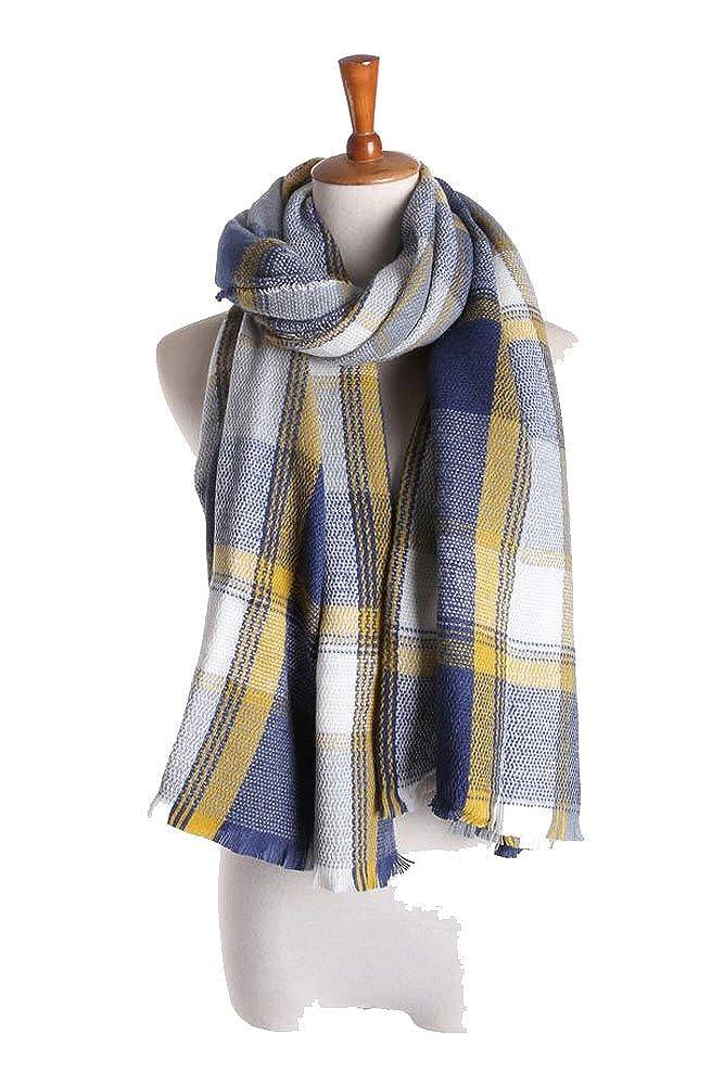 2017 Womens Mens Fashionable Blanket Plaid Winter Scarf Shawl Wrap Scarves
