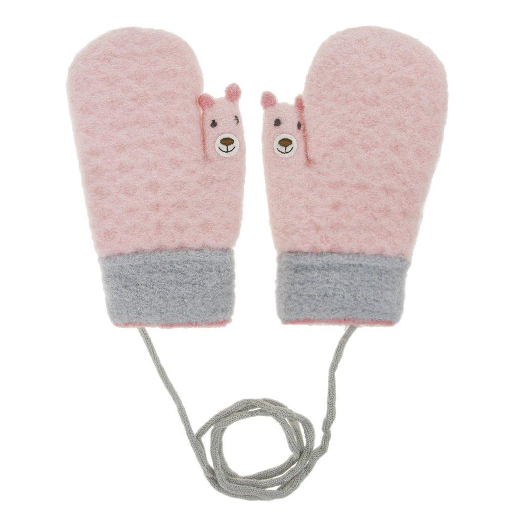 Moufle - Guantes gruesos de punto con estampado de jacquard, guantes ...