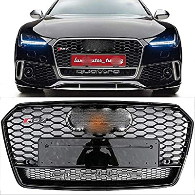 For Audi A7 S7 RS7 Style 2016-2018 Front Honeycomb Mesh Grill Grille Gloss Black