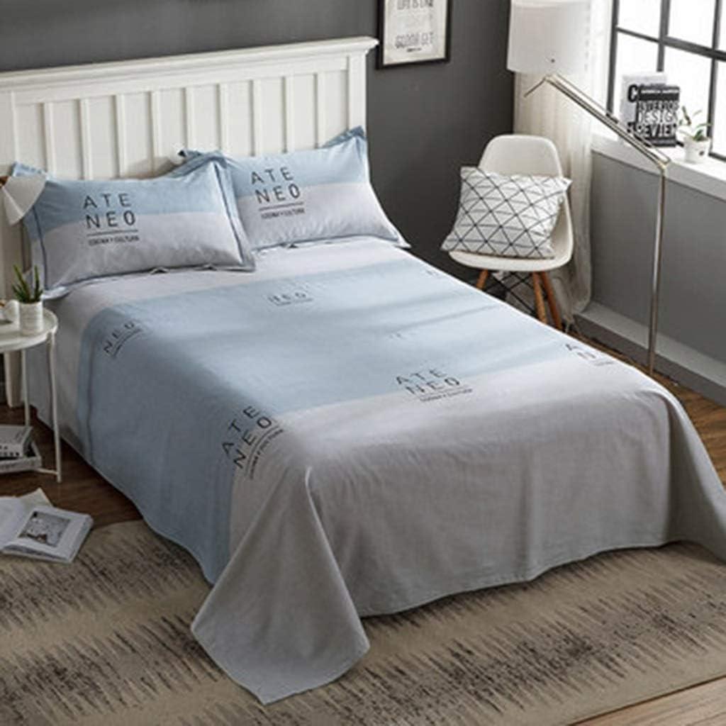 HBWJSH Láminas de algodón Engrosamiento Lijado de sábanas Individuales de algodón Doble 1.2m (Color : C): Amazon.es: Hogar