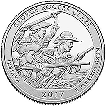 2017 s silver proof ge e rogers clark indiana national park np Nazi Coins 1942 2017 s silver proof ge e rogers clark indiana national park np quarter gem proof us mint at amazon s collectible coins store