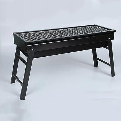 ZZ-aini Plegable Portátil Barbacoa de Carbón Aire Libre, Grill Camping Picnic Barbecue-