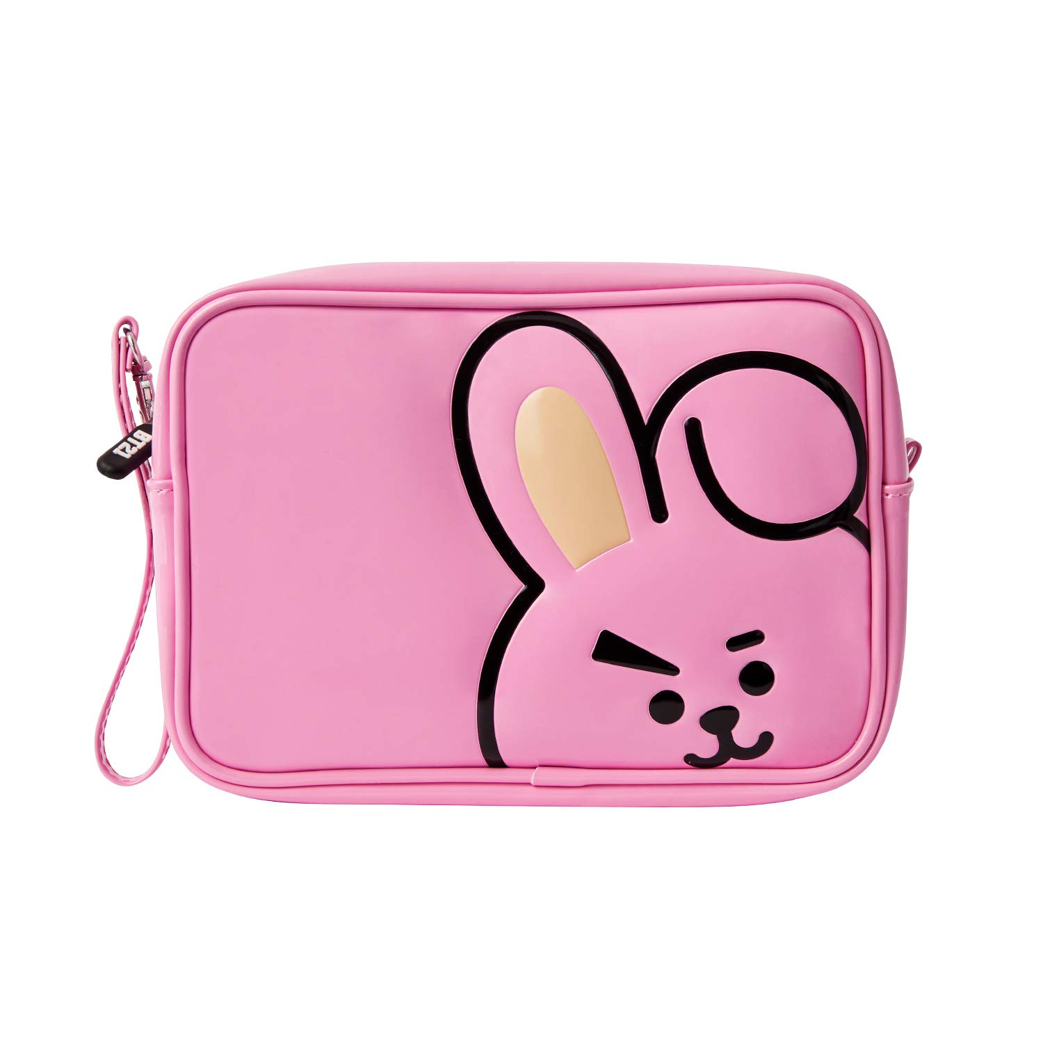 BT21 Official Merchandise by Line Friends - TATA Enamel Cosmetic Bag Travel Pouch for Toiletry and Makeup