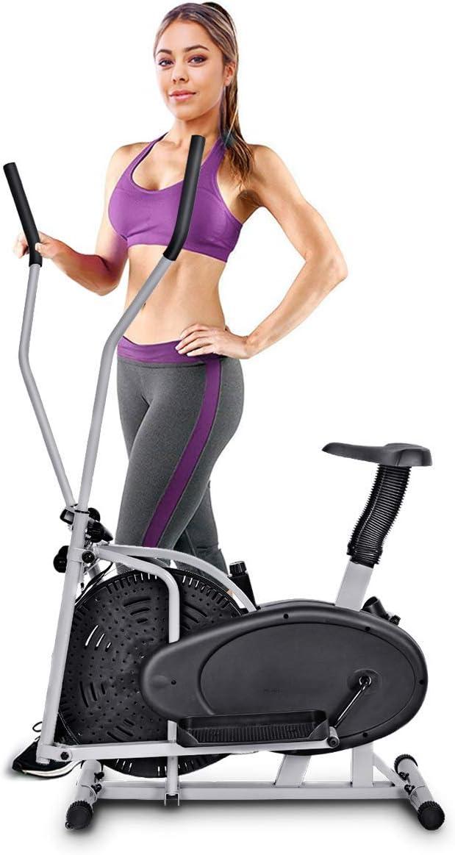 COSTWAY Bicicleta Elíptica Altura Ajustable con Consola Regulador de Resistencia Pantalla para Gimnasia Fitness Hogar Ejercicio Carga 100KG: Amazon.es: Deportes y aire libre