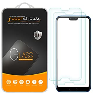 [2-Pack] Supershieldz for Huawei Honor 10 Tempered Glass Screen Protector, Anti-Scratch, Bubble Free, Lifetime Replacement