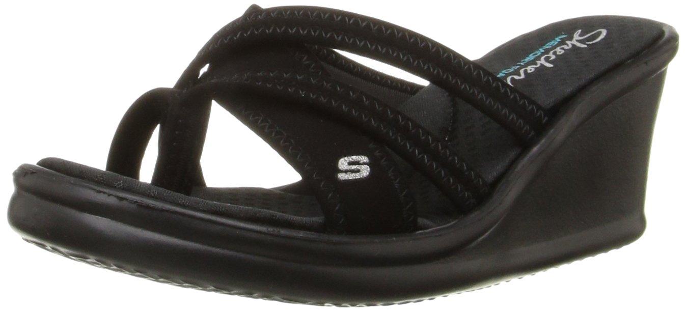 Skechers Cali Women's Rumblers - Young At Heart Wedge Sandal, Black, 8 M US by Skechers