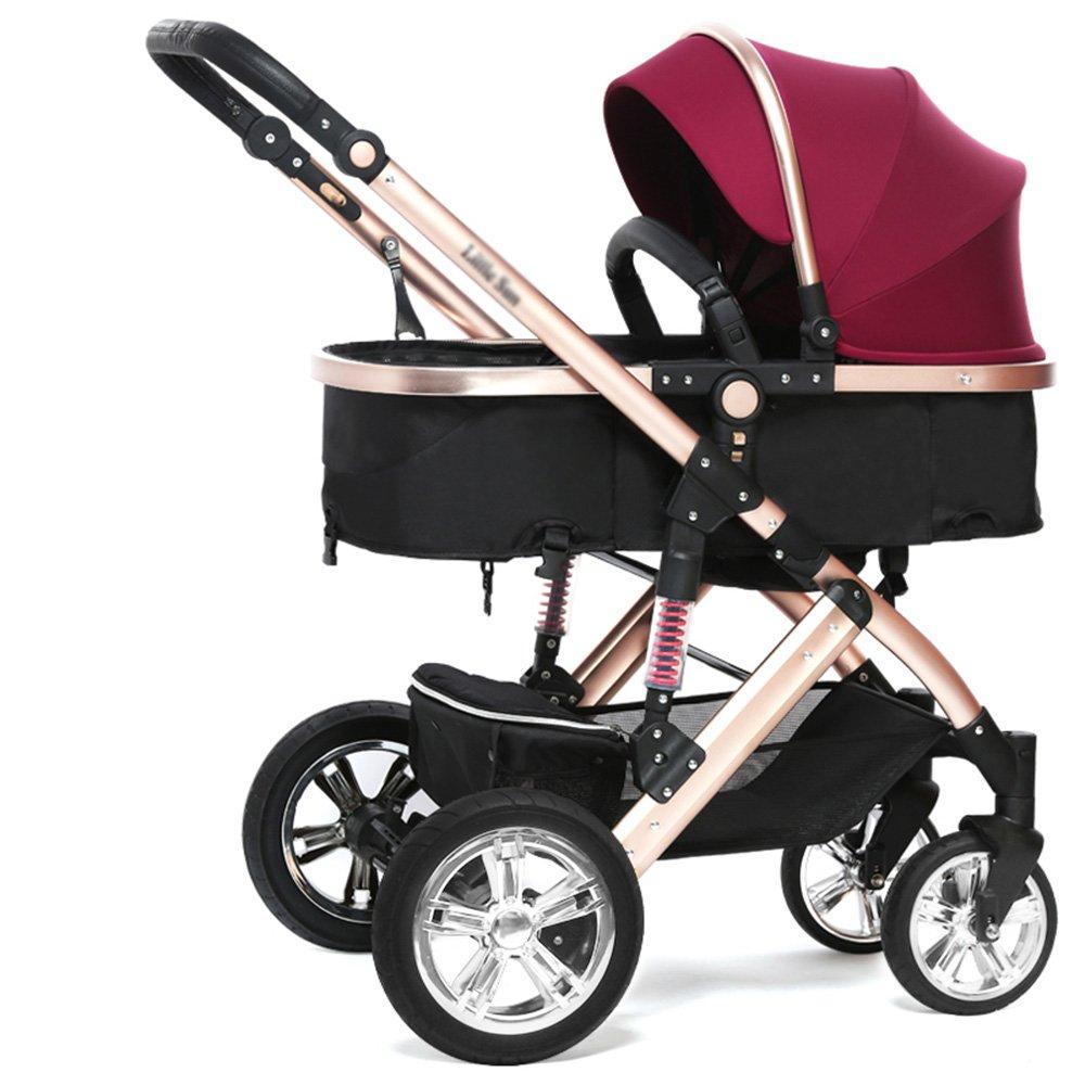 HAIZHEN マウンテンバイク 赤ちゃんのベビーカーのトラベルシステム赤ちゃんのベビーカー高い風景は、子供たちがトロリー冬と夏の二重使用軽量の赤ちゃんキャリッジ調節可能なプッシャーベビーカーを座って座ることができます 新生児 B07C6F6S4V パープル ぱ゜ぷる パープル ぱ゜ぷる