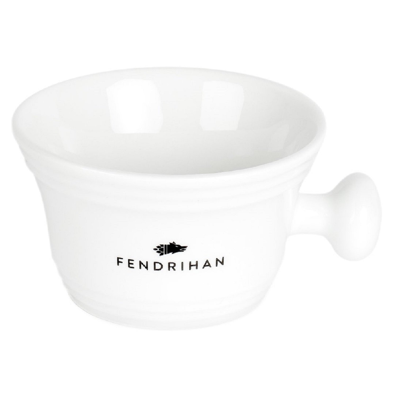 Fendrihan Genuine Porcelain Apothecary Shaving Mug, White