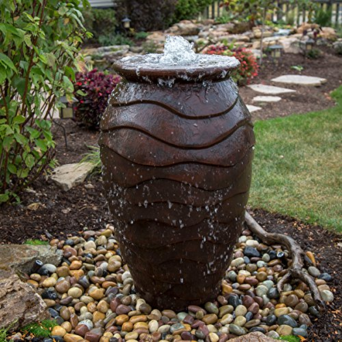 (Aquascape Scalloped Urn Landscape Fountain Kit with Aquabasin and Ultra Pump, Medium | 78270)