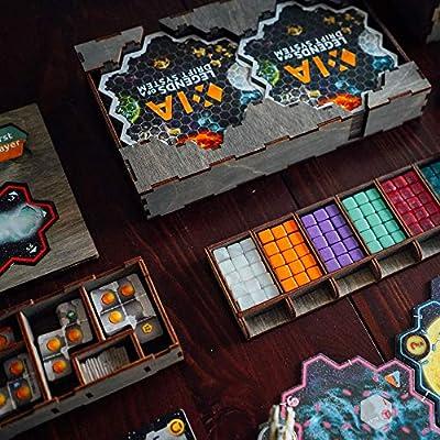 Smonex Xia - Organizador de madera para juegos de mesa, caja apta para almacenamiento de todas las expansiones de juegos Xia - Kit Token Box Insertar tarjeta: Amazon.es: Juguetes y juegos