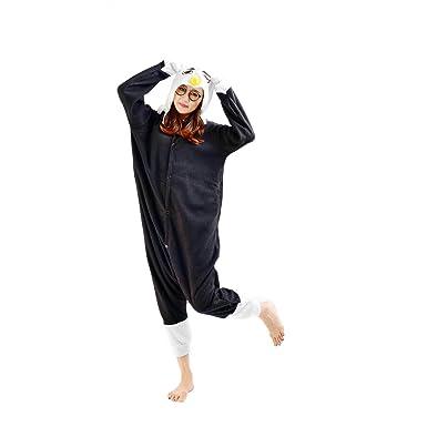 Casa Erwachsene Unisex Jumpsuit Tier Onesie Tieroutfit Schlafanzug